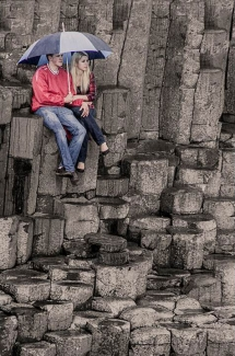 Cute Couple at Giants Causeway, Northern Ireland