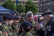 Veteran at Armed Forces Day, Glasgow, Scotland
